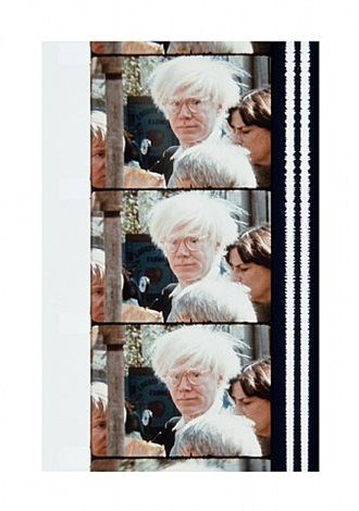 warhol at the farmer's market, october 18, 1980 by jonas mekas