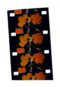 andy warhol at the opening of his show, whitney museum, 1970 by jonas mekas