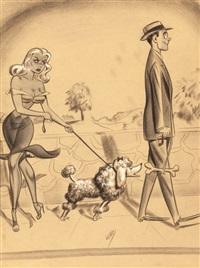 comedy, men's magazine cartoon illustration by bill ward