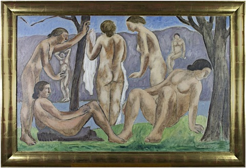 bathers (inventory #7173c) by abraham walkowitz