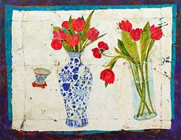 nonya cup and tulips by sue fitzgerald