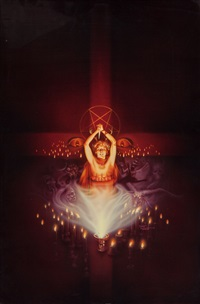 scream greats, vol. 2: satanism and witchcraft, original movie poster art by kirk reinert