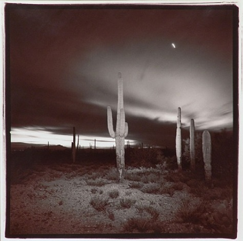 plate 46, from the night desert series by richard misrach
