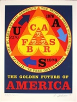 the golden future of america by robert indiana