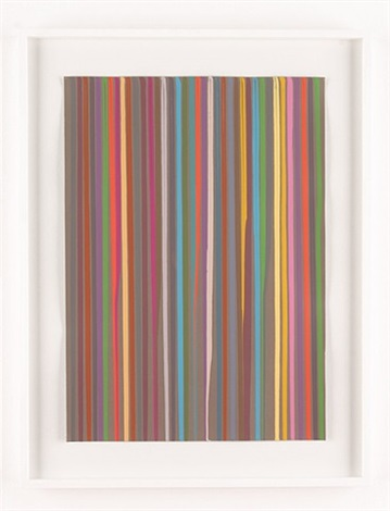 poured lines: grey by ian davenport