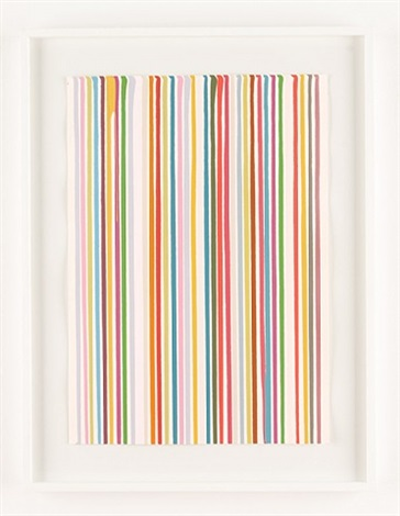 poured lines: snow white by ian davenport