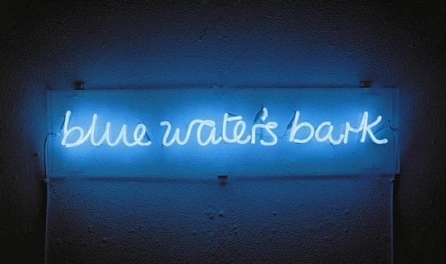 blue water's bark by ian hamilton finlay