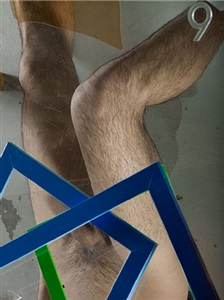 legs, number, frame, concrete, blue, green, orange by michele abeles
