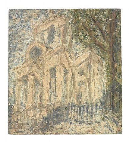 christchurch, spitalfields by leon kossoff