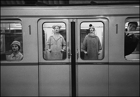 paris subway by frank horvat