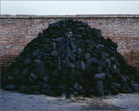 coal pile by liu bolin
