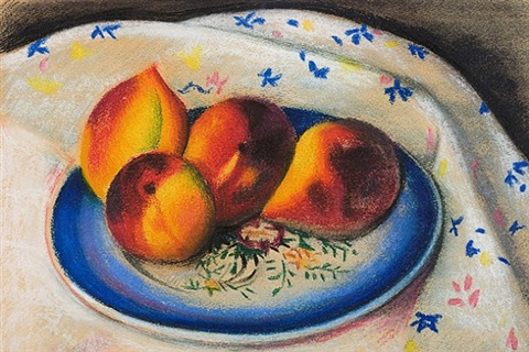 still life with peaches by joseph stella