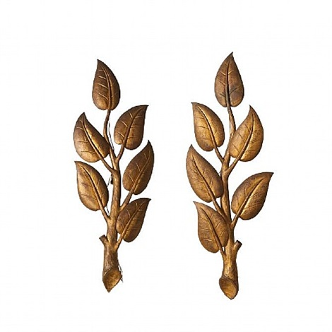 pair of branch sconces by gilbert poillerat