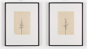 pair of winter drawings 9vs11 and 11vs 11, feb 2011 by peter liversidge
