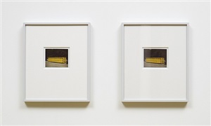 polaroids - upstate new york (yellow container) by peter liversidge