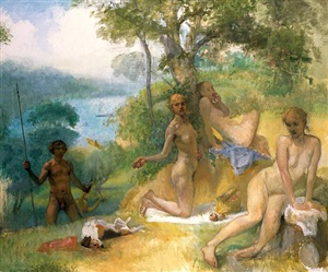 apollo and the three graces by lennart anderson