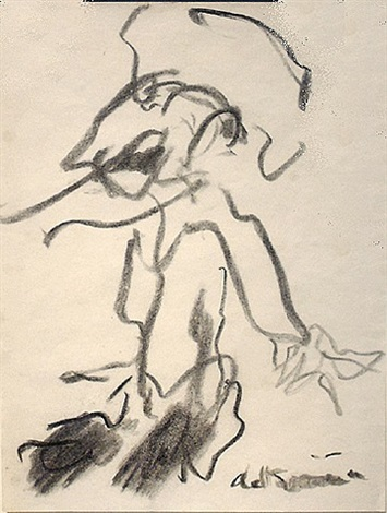 untitled (standing figure) by willem de kooning