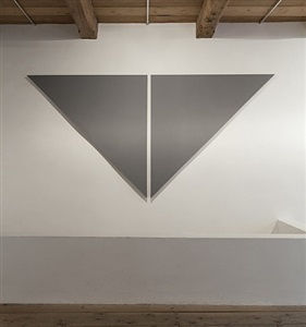 triangle painting by alan charlton
