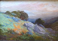 poppies near tamalpais by arthur william best