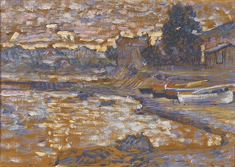 bateau echoues au lavandou by henri edmond cross