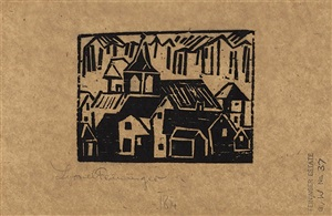 kirche und dorf (church and village) by lyonel feininger