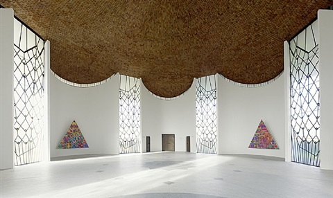installation view böhm chapel by philip taaffe