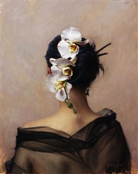 cascading orchid (sold) by grace mehan devito
