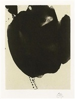 nocturne vi, from the octavio paz suite by robert motherwell