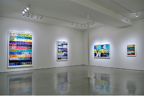 installation view – mel bochner: words... quint contemporary art march 3 - april 14, 2012 by mel bochner