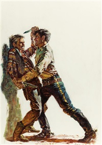 the man from andersonville, paperback cover by john leone