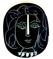 visage de femme by pablo picasso