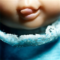 doll mouth series - little tongue by diana thorneycroft