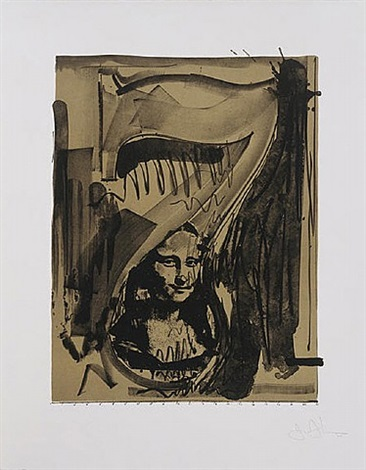 figure 7 from black numeral series by jasper johns