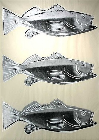 fish wallpaper by andy warhol