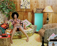 lovely six foota by mickalene thomas