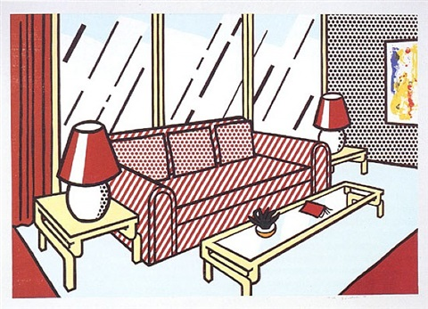 red lamps (interiors) by roy lichtenstein