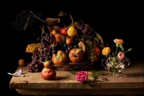 fruit and roses, d'après i.s., 2010 by paulette tavormina