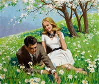 field of daises by arthur saron sarnoff