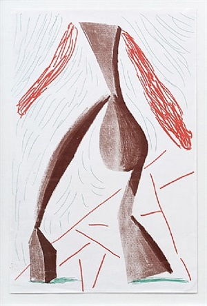 walking, june 1986 by david hockney