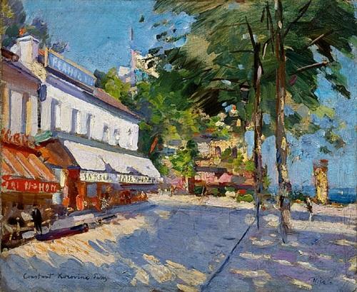 scène de rue, nice by konstantin alexeievitch korovin