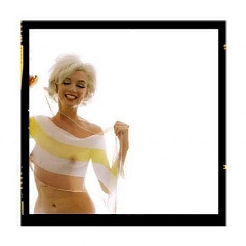 marilyn with scarf by bert stern