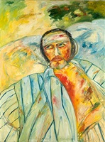 self portrait, addenbrook's hospital by john bellany