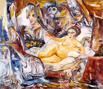danae homage to rembrandt ii by john bellany