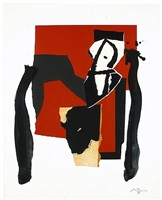 the red and the black no. 43 by robert motherwell