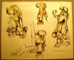 crucifixion by dumile feni-mhlaba (zwelidumile mxgazi)