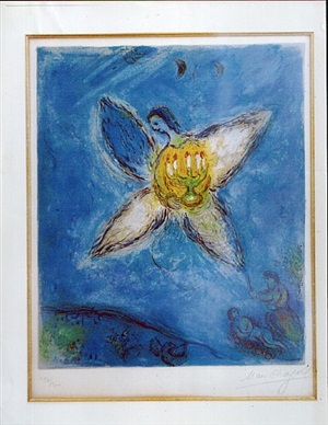 blue angel by marc chagall