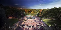 bethesda fountain, day to night by stephen wilkes