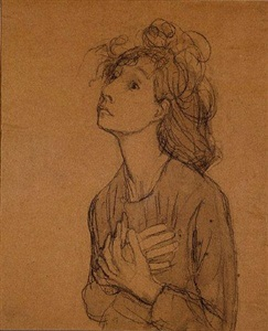 "etude pour ""les suppliantes"" by gwen john"