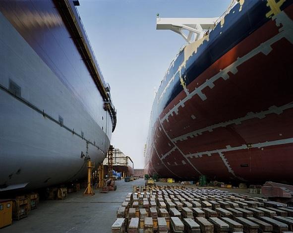 drydock, dsme shipyard, geoje island by thomas struth