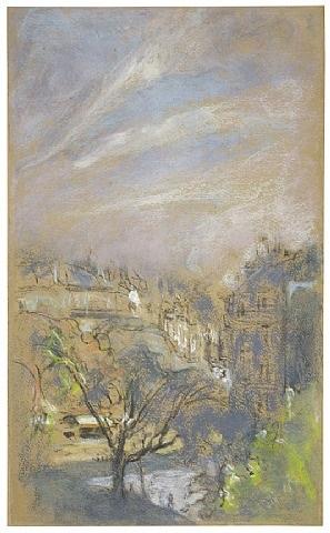 morning light on place vintimille, paris by edouard vuillard